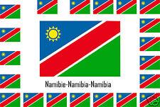 Assortiment lot de10 autocollants Vinyle stickers drapeau Namibie-Namibia