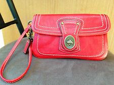 COACH LEGACY 65th ANNIV. WRISTLET/CLUTCH IN RED LEATHER - STYLE 40708 - EUC