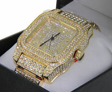 Geniune Techno Pave Jojino Jojo Iced Out 3 Rows Bezel Men's Watch