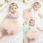 Newborn Baby Girl Dress Tulle Tutu Bodysuit Romper Jumpsuit Outfits One-pieces