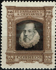 Spain Famous Writer Cervantes 300 Ann Exposition stamp 1916 MLH
