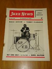 JAZZ NEWS 1962 APR 11 UK MUSIC MAGAZINE NAT KING COLE