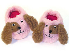 Pink Fuzzy Doggy Puppy Dog Slippers for Bitty Baby + Twins Doll Clothes