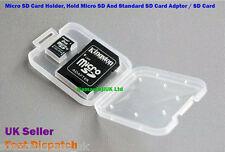 2 x Micro SD Memory Card Adapter Plastic Case Only SDHC SDXC Protective Cases UK