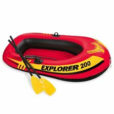 2 Person Inflatable Boat Boating Ride Fishing Paddle Oars Air Pump Tool Set