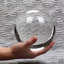 100MM + STAND HUGE ASIAN QUARTZ CLEAR CRYSTAL BALL SPHERE