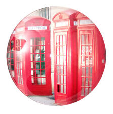 Red Telephone Box Crystal Glass Bubble Magnet UK Souvenir Gift