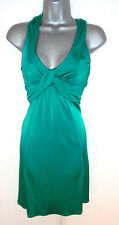 Stunning Warehouse Emerald Green Strappy Crossover Evening Occasion Dress 8