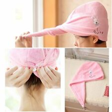 NEW Microfiber Towel Quick Dry Hair Magic Drying Turban Wrap Hat Cap Spa Bathing