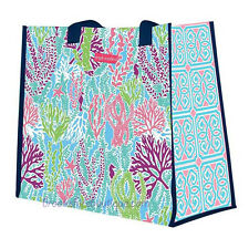 SIMPLY SOUTHERN T SHIRT CO. CORAL REEF MARKET BEACH TOTE BAG SEAHORSES STARFISH