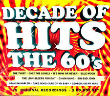 Decade of Hits: The 60's .. 75 Original Hits .. 3 Cd .. Teen Angel ..Various R&R