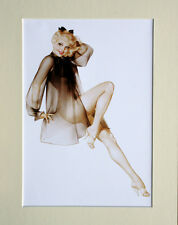 "Alberto Vargas  Mounted Print  AV8 - Pin-Up Art -   SIZE  14"" X 11"""