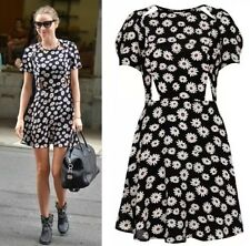 Topshop Floreale Daisy tagliato Vintage Celebrita 'Mini Skater Tea Dress 8 36 us4 Petite