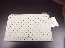 NWT Kate Spade Polka Dot Pencil It In Canvas Pencil Pouch w/ Accessories