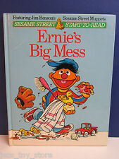 SESAME STREET old vintage ERNIE'S BIG MESS CHILDRENS ANNUAL BOOK 1981 hardback