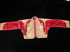 19th. Century Ottoman Jacket Hand Embroidered With Gold Metallic Threads