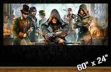 "HUGE 60""x24"" ASSASSINS CREED SYNDICATE *new* collectible poster wall art gamer"