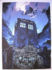 The Fields of Trenzalore Silkscreen Art Poster Tim Doyle Glow In Dark (Dr Who)