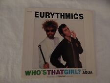 "Eurythmics ""Who's That Girl?"" PICTURE SLEEVE! MINT! PERFECT! NICEST COPY eBAY!!"