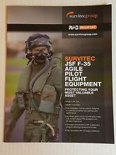 Survitec JSF F-35 Agile Pilot Flight Equipment Catalog 10 Pages NEW