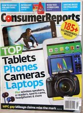 CONSUMER REPORTS Magazine TOP Tablets PHONES Cameras LAPTOPS Hybrid CARS