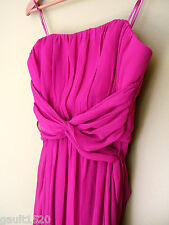 NWT Max And Cleo Katrina Strapless Tie Chiffon Fuchsia Dress MaxAndCleo 8 $148