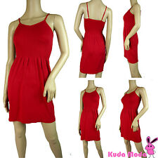 WOMEN SEXY ADJUSTABLE SPAGHETTI STRAP FIT AND FLARE CAMI CASUAL DRESS XS/S/M/L
