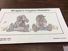 MEAGAN'S COUNTRY BUNNIES SHADOW WORK PATTERN # 0016 BY DESIGNS BY LISA   NEW
