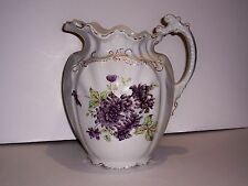 "1893 WEDGWOOD & CO ENGLAND SEMI PORCELAIN WATER PITCHER 11"" REGISTRY # 220539"