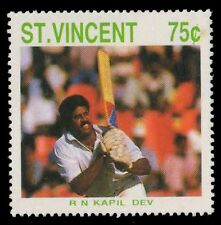 St. Vincent 1988-Kapil Dev Cricketer-1 Value-MNH-S.G. 1146