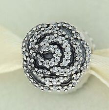 Authentic Pandora 791529CZ Rose Clear CZ Flower Clip Sterling Silver Bead Charm