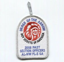 Restricted Silver Mylar 2008 Past Section Officers OA Patch - AL-NW FL-S GA