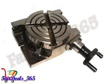 HIGH QUALITY  4 INCH ROTARY TABLE HORIZONTAL VERTICAL USE FOR DIY MACHINISTS