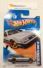 '81 Delorean DMC-12 #141 * FTE Rims * USA CARD * 2011 Hot Wheels * A41