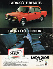 PUBLICITE ADVERTISING 104  1982  LADA 2105  coté beauté coté confort