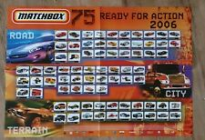 Matchbox 2006 75 Series Double Sided Poster 82cm x 60cm