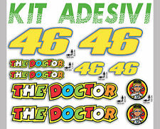 ADESIVI stickers KIT VALENTINO ROSSI logo THE DOCTOR 46 16pz OFFERTA motorino