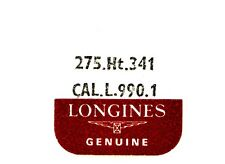 NEW OLD STOCK LONGINES CAL L.990.1 HT. 341 SWEEP SECOND PINION WATCH PART #275