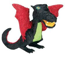 Dragon Pinata (BLACK) - Boys Medieval Themed Birthday Party Supplies & Games