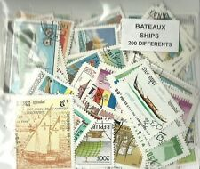"""Lot de 200 timbres thematique """" Bateaux"""""""