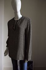 Balenciaga Black & Nude Checked Tunic Top Size IT40/UK10/12 4008