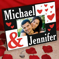 Personalized Names Valentines Day Couples Picture Frame Love Couples Photo Frame