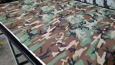 "WOODLAND CAMOUFLAGE MOISTURE WICKING 4-WAY STRETCH FABRIC 62""W PERFORMANCE KNIT"