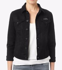 NEW Hudson Signature Women's Black Denim Jean Jacket w/ stretch Size: XS XSmall