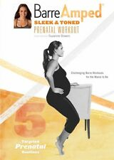 SUZANNE BOWEN BARREAMPED SLEEK & TONED PRENATAL WORKOUT DVD BARRE AMPED NEW