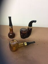 Set of 3 Vintage Avon Pipe Decanters Tai Winds American Eagle Corncob