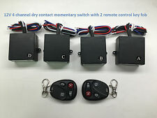 MSD INC 12v 4ch dry contact 0vout momentary wireless remote relay switch RS306