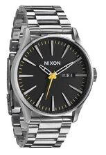 Nixon Sentry SS A3561227 Black Dial Stainless Steel Men's Watch