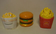 3 Vintage 80s - 90s McDonalds Spielzeug Toys Food Transformers