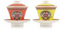 2 * High Grade Jindezhen Couple Porcelain Gongfu Tea Gaiwan w/t Infuser 80ml